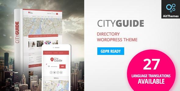 City Guide — каталог городского портала / доска объявлений WordPress шаблон